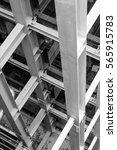beam steel structure in column | Shutterstock . vector #565915783