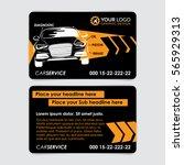 auto repair business card... | Shutterstock .eps vector #565929313