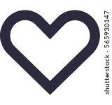 heart vector icon | Shutterstock .eps vector #565930147