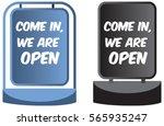come in we're open sign display ...   Shutterstock .eps vector #565935247