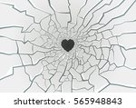heart shaped broken glass. | Shutterstock .eps vector #565948843