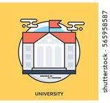 university vector icon | Shutterstock .eps vector #565958587