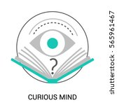 symbol of curious mind ... | Shutterstock .eps vector #565961467