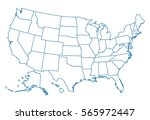 map of usa | Shutterstock .eps vector #565972447