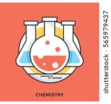 chemistry vector icon | Shutterstock .eps vector #565979437