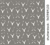 vector seamless arrow pattern... | Shutterstock .eps vector #565989133