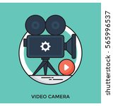 video camera vector icon | Shutterstock .eps vector #565996537
