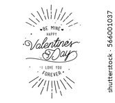 happy valentine's day card... | Shutterstock .eps vector #566001037