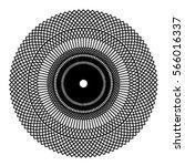 circle radial pattern mesh in... | Shutterstock .eps vector #566016337