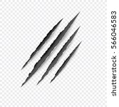claws scratches   vector... | Shutterstock .eps vector #566046583