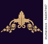 gold vintage baroque ornament...   Shutterstock .eps vector #566047447