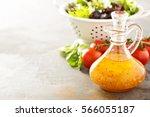 italian vinaigrette dressing in ...   Shutterstock . vector #566055187