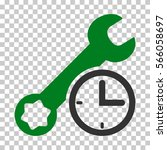 green and gray service time... | Shutterstock .eps vector #566058697