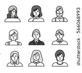 vector flat style people... | Shutterstock .eps vector #566068993