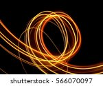 yellow fairy lights light... | Shutterstock . vector #566070097