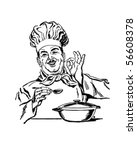 italian chef   retro clip art | Shutterstock .eps vector #56608378