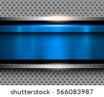 background metallic blue with... | Shutterstock .eps vector #566083987
