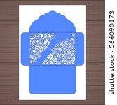 wedding invitation or greeting... | Shutterstock .eps vector #566090173