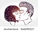 beautiful artwork of young... | Shutterstock .eps vector #566090527