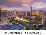 Stock photo aerial view of las vegas strip in nevada as seen at night usa 566096053