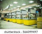 supermarket yellow cashbox in... | Shutterstock . vector #566099497