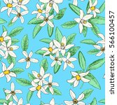 floral spring seamless pattern... | Shutterstock .eps vector #566100457