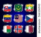 Set Of World Flags Quadrangula...