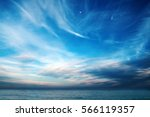 Stock photo blue sky with clouds over the sea wallpapers seascape background 566119357