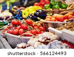 fresh healthy bio fruits and... | Shutterstock . vector #566124493