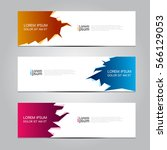 vector design banner background. | Shutterstock .eps vector #566129053