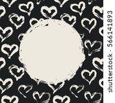 grunge circle  hearts... | Shutterstock .eps vector #566141893