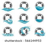 collection of lifebuoy symbol... | Shutterstock .eps vector #566144953