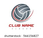 volleyball logo | Shutterstock .eps vector #566156827