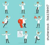 doctor work process collection... | Shutterstock .eps vector #566158447