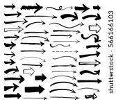 Set of hand drawn arrows.  | Shutterstock vector #566166103
