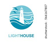 lighthouse icon design with... | Shutterstock .eps vector #566167807