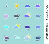 set with different weather... | Shutterstock .eps vector #566169727