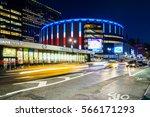 madison square garden  new york ... | Shutterstock . vector #566171293