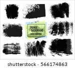 set of black paint  ink brush... | Shutterstock .eps vector #566174863