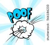 poof. speech bubble in retro... | Shutterstock .eps vector #566186233
