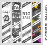 set of banners with blots  | Shutterstock .eps vector #566186593