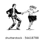 retro swing dancing   retro... | Shutterstock .eps vector #56618788