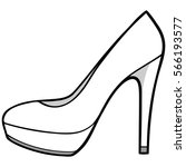 high heels illustration | Shutterstock .eps vector #566193577