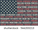 poster of united states of... | Shutterstock .eps vector #566203213