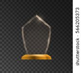 glass shining trophy with...   Shutterstock .eps vector #566205373