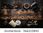 coffee background with space... | Shutterstock . vector #566212843