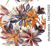 beautiful fashion art pattern... | Shutterstock .eps vector #566224033