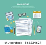 accounting concept. tax day.... | Shutterstock .eps vector #566224627
