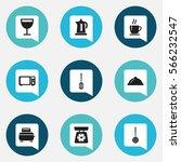 set of 9  kitchen icons....