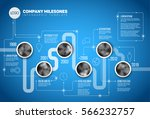 vector infographic company... | Shutterstock .eps vector #566232757